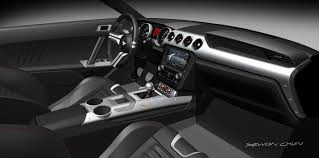 Ford Interior Design 2015 Ford Mustang Interior Design Rendering Theme B