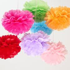 Paper Flower Decor Detail Feedback Questions About 1piece Pompon Tissue Paper Pom Poms