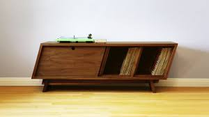build a mid century modern record player cabinet woodworking