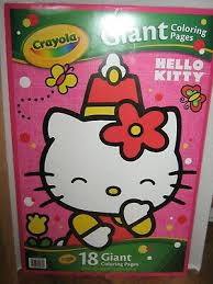 Crayola coloring pages mermaid coloring pages princess coloring pages coloring pages for girls cartoon coloring pages coloring books coloring. Crayola Hello Kitty Giant Coloring Pages 04 0179 Drawing Sketch Pads Toys Games