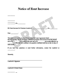 Notice Of Rent Increase Form Notice To Increase Rent Andone Brianstern Co