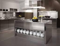 modern kitchen counter. Stainless Steel Countertops In An Ultra Modern Kitchen Counter