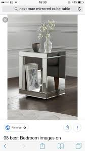 next mirrored cube side table