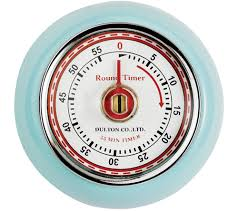eddingtons retro magnetic kitchen timer blue