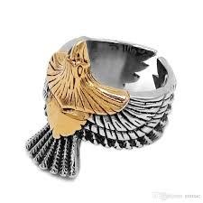 whole gold eagle biker ring 316l snless steel jewelry usa ring spirit of eagle motor biker men rings whole swr0753 ring biker ring