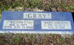 """Mary Ann """"Polly"""" Ray Gray (1814-1886) - Find A Grave Memorial"""
