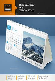 desk calendar design templates