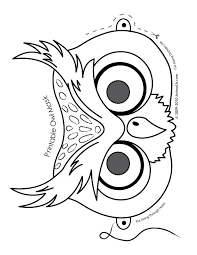 Try to color cartoon animals to unexpected colors! Owl Mask Coloring Page Woo Jr Kids Activities