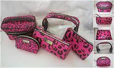 nwt victoria s secret 5pcs travel set train case cosmetics clutch 3 makeup bag