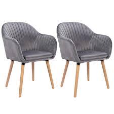 2er Set Esszimmerstühle Aus Samt Holz Im 3 Farben