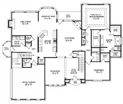 charmant house building plan with 4 bedroom and double garage also breakfast area full size