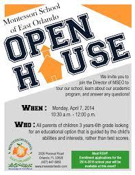 018 Open House Flyers Templates Free School Flyer Template