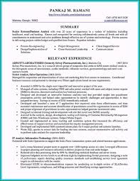 Sales Analyst Resume 46 Phenomenal Business Analyst Resume Examples For 2019