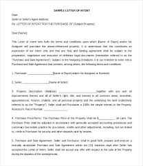 Letter Of Intent For Real Estate Purchase Template. 10 Letter Of ...