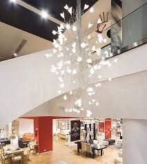 led jogg twisted chandelier for large spaces modern entry inside contemporary chandeliers design 14