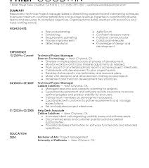 Junior Project Manager Resume Examples Jr Program Template New Of