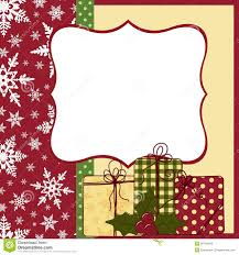cute christmas frame template stock image image  cute christmas postcard template stock photography
