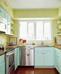 Turquoise Kitchen Decor Green And Yellow Kitchen Decor With Turquoise Cabinet And Wooden