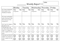 Weekly Behavior Chart For Home 66 Unusual Sticker Chart For Behavior