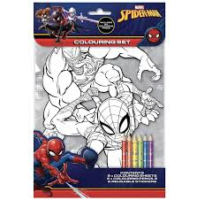 Spiderman theme birthday party is extremely popular with the kids. Spiderman Colouring Set