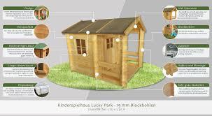 Kinderspielhaus 175 X 130 Meter Aus 19mm Blockbohlen Kinder
