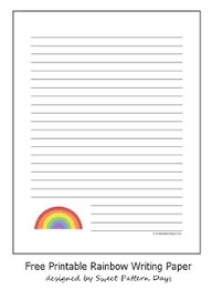 printable basketball writing paper party ideas   printable rainbow writing paper