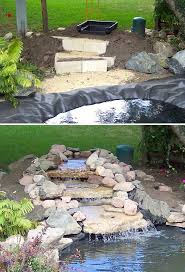 Small Picture DIY Garden Waterfalls Diy waterfall Garden waterfall and Passion