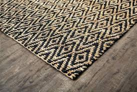 stark diamond sisal rug black jute swoon rugs 5