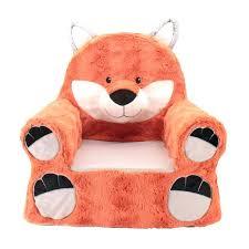 kids plush chair sweet seats fox orange childrens chairs canada