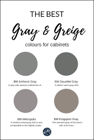 the 4 best gray and greige colours for