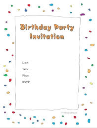 Word Template For Birthday Invitation Birthday Party Invites Templates Birthday Party Invitations