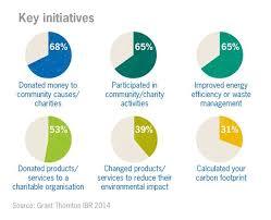 Charity Efficiency Chart Key Csr Initiatives Chart Corporate Social Responsibility