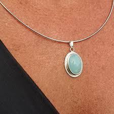 silver aquamarine pendant cobaja