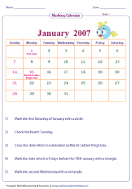 easy calendars reading calendar worksheets with word problems