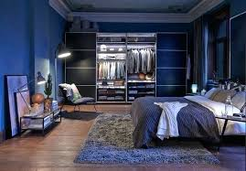 cozy blue black bedroom bedroom. Cozy Blue Bedroom Contemporary Bachelor With White Bed On Grey Fluffy Rug Also . Black