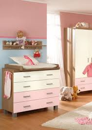 unusual baby furniture. lovely pink brown chest of drawer in baby nursery with dolls unusual furniture