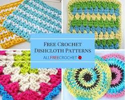 Free Patterns For Crochet Mesmerizing 48 Free Crochet Dishcloth Patterns AllFreeCrochet