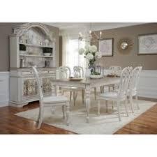 liberty magnolia manor antique white 7 piece splat back rectangular dinette set size 7 dining room