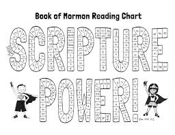 Printable Book Of Mormon Reading Chart For Kids Reading