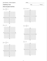 algebra 1 worksheets algebra 1 graphing linear equations worksheet
