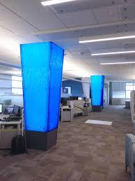 Eos Light Panel Systems Backlit Textured Acrylic Columns Using Eos Custom Lightpanel