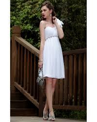 A-Linie Ein-Schulter Empire Blume weißes Cocktailkleid - online Kaufen
