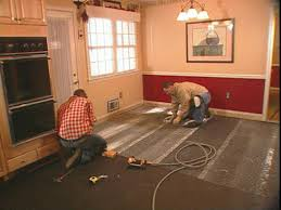 Poured Concrete Kitchen Floor How To Install A Base For A Concrete Floor How Tos Diy
