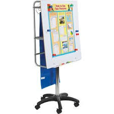 Adjustable Height Magnetic Dry Erase Board And Pocket Chart