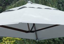norfolk leisure 2m square wall mounted cantilever parasol closeup in grey