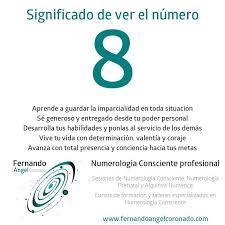 Significado De Ver El Numero 8 Numerologychart Numerology