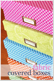 Decorative Filing Boxes One Yard Décor Fabric Covered Boxes In My Own Style 56