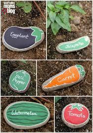 rocks as garden markers