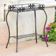 outdoor plant stands iron rectangular plant stand tall metal outdoor plant stands