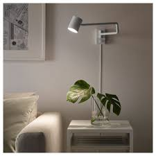 Wall Lamp With Swing Arm Nymåne White Bedroom Ikea Wall Lamp
